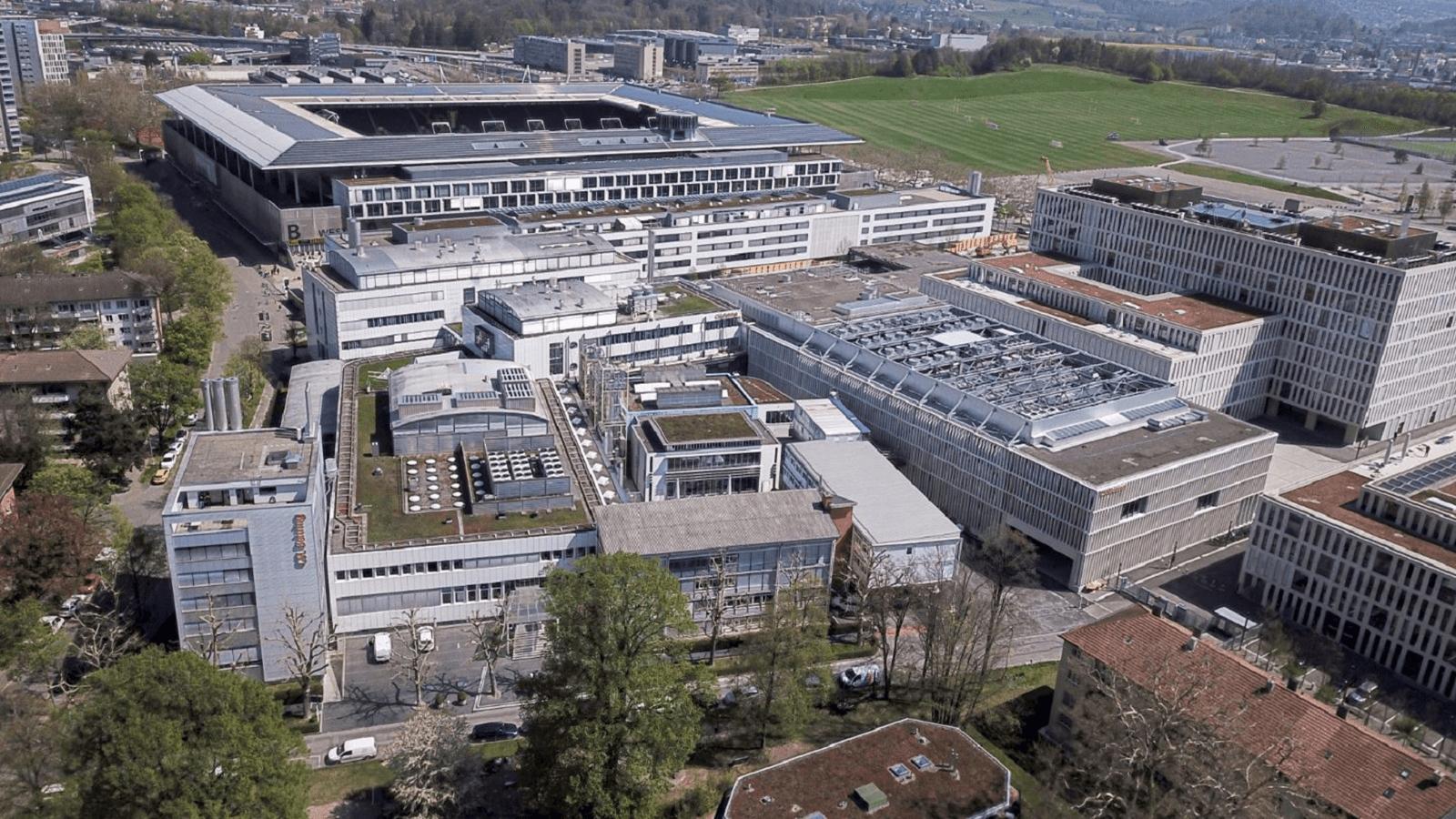 Vue aérienne du site de Berne