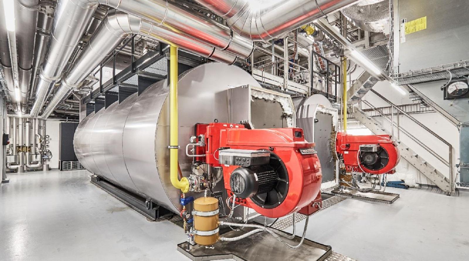 des chaudières à vapeur à haut rendement énergétique sur le site de Berne