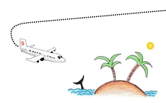 Illustration eines Kinderbuchs über den Coronavirus: Reisen