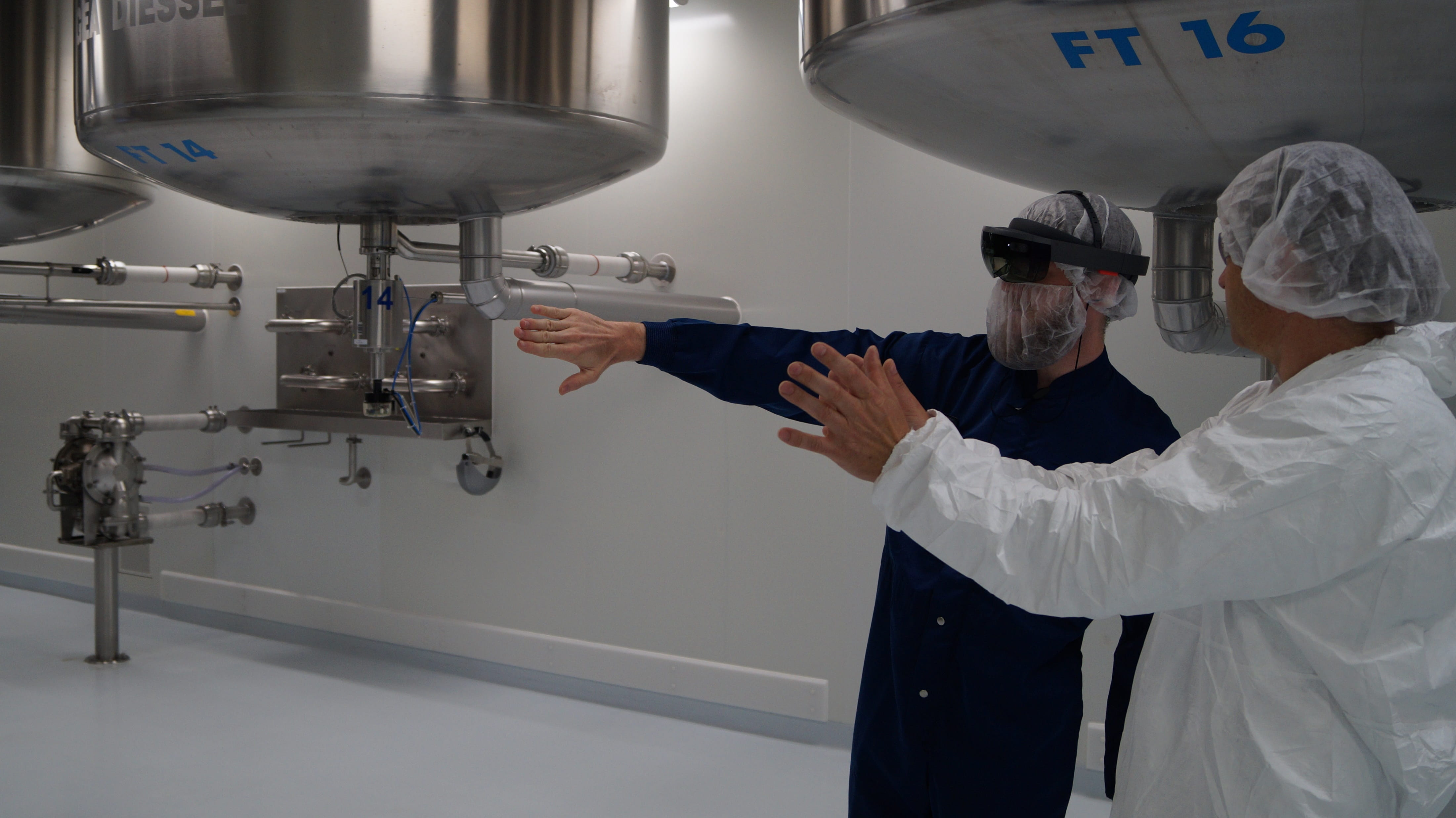 An augmented reality device is used in fractionation area.