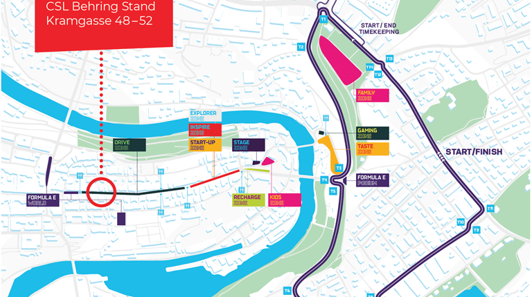 Carte routière du E-Prix du 22 juin 2019 à Berne