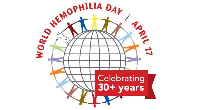 Logo des Welt Hämophilie Tags (30 Jahre)