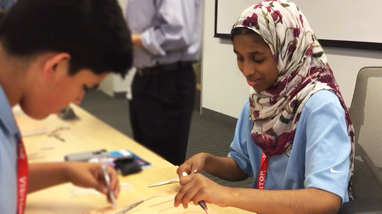 Raisa Sabiha pictured at a STEM mentoring event