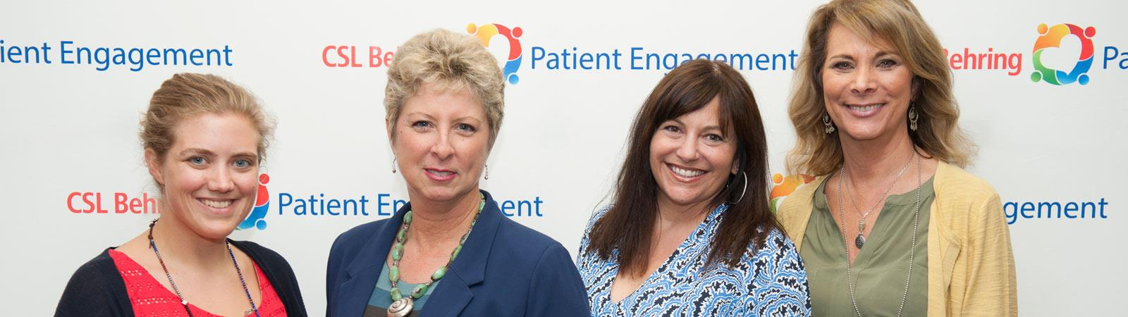 Patient Dee Meisner with CSL Behring Employees